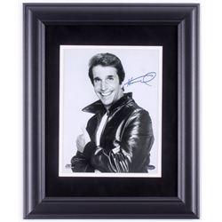 """Henry Winkler Signed """"Happy Days"""" 14x17 Custom Framed Photo Display (Schwartz COA)"""