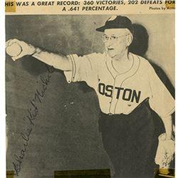 "Charles ""Kid"" Nichols Signed 4x4.5 Newspaper Photo (JSA LOA)"