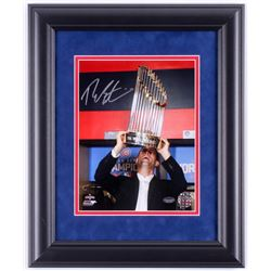 Theo Epstein Signed Chicago Cubs 2016 World Series 14x17 Custom Framed Photo Display (Schwartz COA)