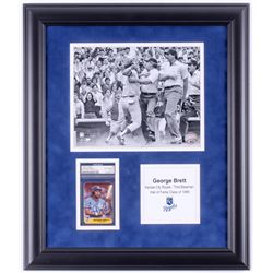 George Brett Signed Kansas City Royals 17.5x20.5 Custom Framed Card Display (PSA Encapsulated)