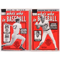 "Lot of (2) 1990  1991 ""Who's Who in Baseball"" Magazines"