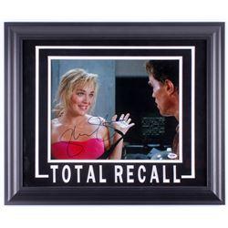 "Sharon Stone Signed ""Total Recall"" 19.5x23.5 Custom Framed Photo Display (PSA COA)"