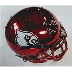 Lamar Jackson Signed Louisville Cardinals Chrome Full-Size Authentic On-Field Speed Helmet (Beckett