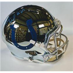 Marlon Mack Signed Indianapolis Colts Full-Size Chrome Speed Helmet (JSA COA)