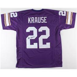 Paul Krause Signed Minnesota Vikings Jersey (JSA COA)