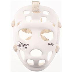 """Tony Esposito Signed Full-Size Throwback Goalie Mask Inscribed """"HOF 88"""" (Schwartz COA)"""