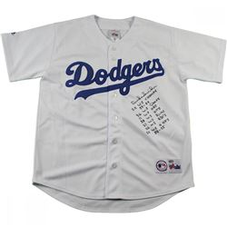 Duke Snider Signed Los Angeles Dodgers Majestic Jersey with (8) Inscriptions (Mounted Memories Holog