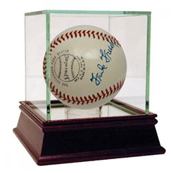 Frank Frisch  Carl Hubbell Signed ONL Baseball with High Quality Display Case (PSA Hologram)