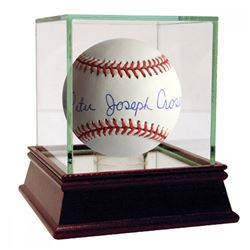 Frankie Crosetti Signed OAL Baseball with High Quality Display Case (JSA Hologram)