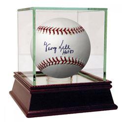 "George Kell Signed Baseball Inscribed ""HOF 83"" with High Quality Display Case (PSA Hologram)"