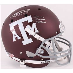 "Johnny Manziel Signed Texas AM Aggies Full-Size Helmet Inscribed ""Johnny F*****g Football"" (JSA COA)"