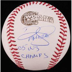 "Damaso Marte Signed 2005 World Series Baseball Inscribed ""05 WS Champs"" (Schwartz COA)"