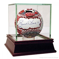 Gordie Howe Signed Baseball Hand-Painted by Charles Fazzino with High Quality Display Case (PSA Holo