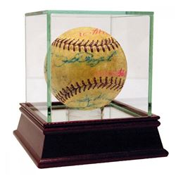 Hall of Famers  Stars ONL Baseball Signed by (16) with Mickey Mantle, Phil Rizzuto, Enos Slaughter