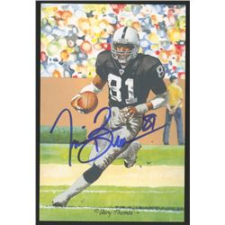 Tim Brown Signed 2015 LE Oakland Raiders 4x6 Pro Football Hall of Fame Art Collection Card (JSA COA)