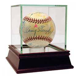Hall of Famers  Stars ONL Baseball Signed by (16) with Casey Stengel, Al Barlick, Phil Rizzuto  High
