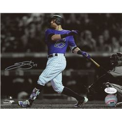 Trevor Story Signed Colorado Rockies 8x10 Photo (JSA COA)