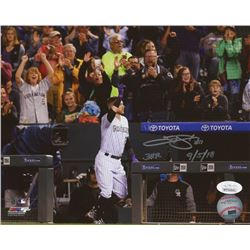 "Trevor Story Signed Colorado Rockies 8x10 Photo Inscribed ""3HR 9/5/18"" (JSA COA)"