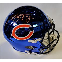 Mitch Trubisky Signed Chicago Bears Full-Size Chrome Speed Helmet (Fanatics)