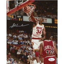 Hakeem Olajuwon Signed Houston Rockets 8x10 Photo (JSA COA)