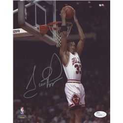 Scottie Pippen Signed Chicago Bulls 8x10 Photo (JSA COA)