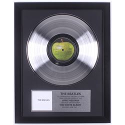 "The Beatles Custom Framed 15.75x19.75 Gold Plated ""The White Album"" Record Album Award Display"