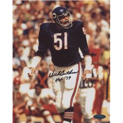 "Dick Butkus Signed Chicago Bears 8x10 Photo Inscribed ""HOF 79"" (TriStar Hologram)"