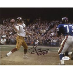 "Sonny Jurgensen Signed Washington Redskins 8x10 Photo Inscribed ""HOF 83"" (JSA COA)"
