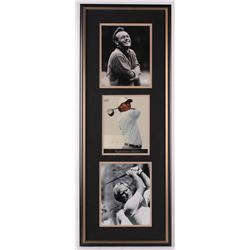 "Arnold Palmer, Jack Nicklaus,  Tiger Woods Signed LE 15x40 Custom Framed Photo Display Inscribed ""Al"