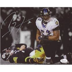 Ray Lewis Signed Baltimore Ravens 8x10 Photo (JSA COA)