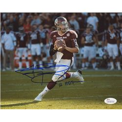 "Johnny Manziel Signed Texas AM Aggies 8x10 Photo Inscribed ""'12 Heisman"" (JSA COA)"