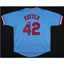 "Bruce Sutter Signed St. Louis Cardinals Jersey Inscribed ""H.O.F. 06"" (JSA COA)"