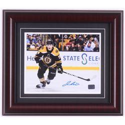 Jake DeBrusk Signed Boston Bruins 14x16 Custom Framed Photo Display (DeBrusk Hologram)
