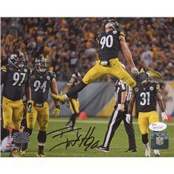 T. J. Watt Signed Pittsburgh Steelers 8x10 Photo (JSA COA  Watt Hologram)