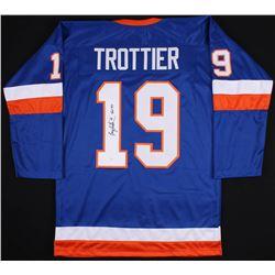 """Bryan Trottier Signed New York Islanders Jersey Inscribed """"HOF '97"""" (JSA COA)"""