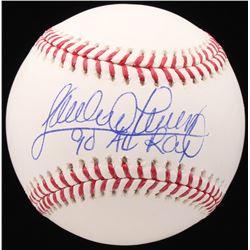 Sandy Alomar Jr. Signed OML Baseball Inscribed  90 AL ROY  (JSA COA)