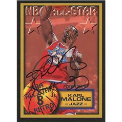 Karl Malone Signed 1996-97 Fleer #284 All-Star Basketball Card (JSA COA)