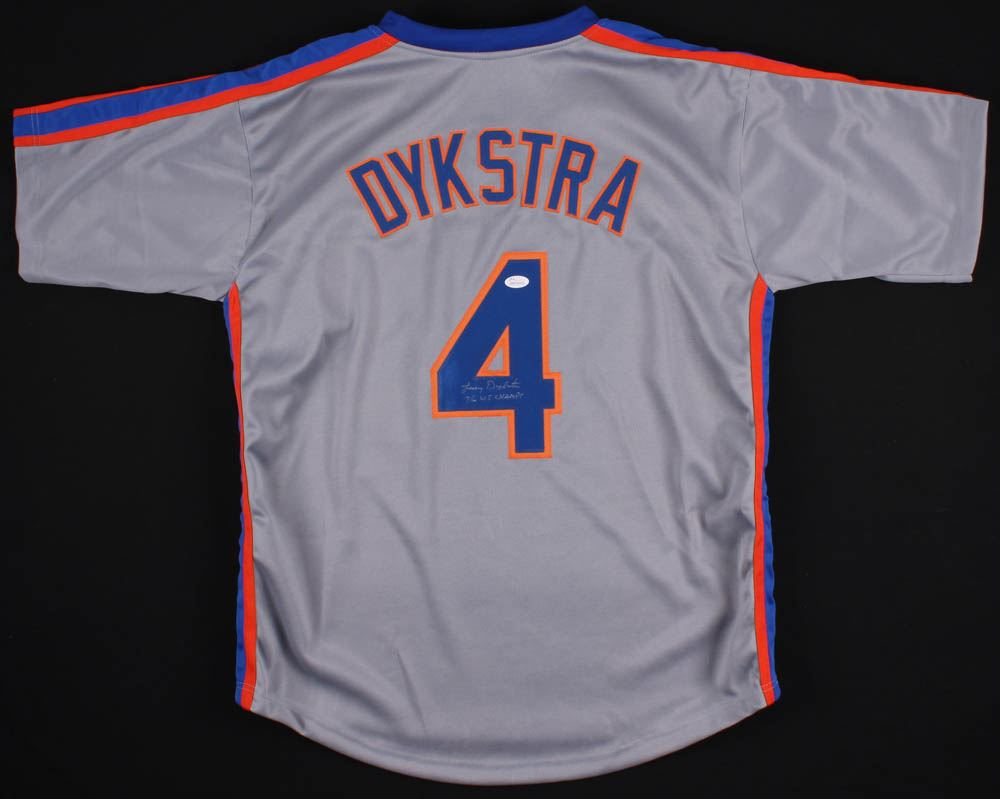 newest 9c4f8 c7d20 Lenny Dykstra Signed New York Mets Jersey Inscribed