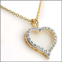 "0.68 CT Diamond ""For Ever Love"" Heart Necklace"