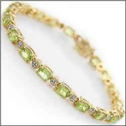 13.29 CT Peridot   Diamond Designer Bracelet