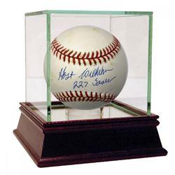 Hoyt Wilhelm Signed Baseball Inscribed  227 Saves  with High Quality Display Case (JSA Hologram)
