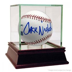Jack Nicholson Signed OML Baseball with High Quality Display Case (Beckett Hologram)