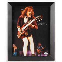 Angus Young Signed  AC/DC  13x16 Custom Framed Photo (JSA COA)