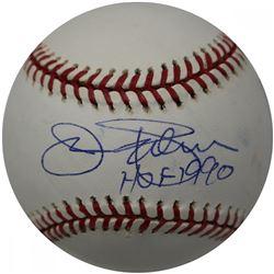 """Jim Palmer Signed Hall of Fame Logo Baseball Inscribed """"HOF 1990"""" (JSA Hologram)"""