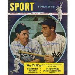 Joe Dimaggio  Dom Dimaggio Signed 1947 Sport Magazine (JSA Hologram)