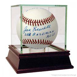 "Joe Sewell Signed OAL Baseball Inscribed ""3rd Baseman"", ""NY Yankees vs Chicago Cubs"", ""1932 World Se"