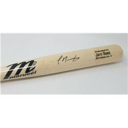 Javier Baez Signed Marucci Player Model JB9-S Baseball Bat (Fanatics Hologram)