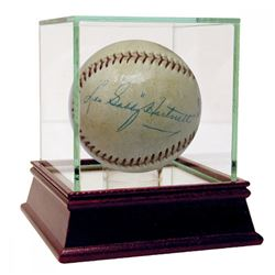"Leo ""Gabby"" Hartnett Signed Baseball with High Quality Display Case (JSA LOA)"