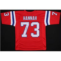 "John Hannah Signed New England Patriots Jersey Inscribed ""HOF 91"" (JSA COA)"