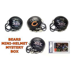 Chicago Bears Signed Mystery Box Mini Helmet – Series 5 - (Limited to 34) **NO DUPLICATES**